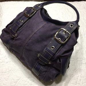 Mondani Purple Suede & Leather Large Purse